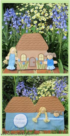 Bluebell Cottage Playset pattern - Two Brown Birds