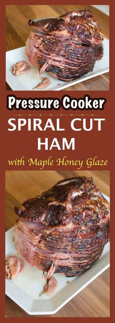 Pressure Cooked Bone-In Ham with Maple-Honey Glaze via Tony B. Pressure Cooked Bone-In Ham with Maple-Honey Glaze via Tony B (Simple Awesome Cooking) Pressure Cooker Ham, Instant Pot Pressure Cooker, Pressure Cooking, Slow Cooker, Pressure Pot, Spiral Cut Ham, Spiral Sliced Ham, How To Cook Ham, How To Cook Steak