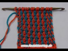 Tunisian Crochet - texture pattern 5 (IN GERMAN - If you are familiar with Tunisian Crochet you can watch this video to learn this stitch... The video is very good... Deb)