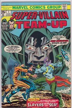 Browse the Marvel Comics issue Super-Villain Team-Up Learn where to read it, and check out the comic's cover art, variants, writers, & more! Marvel Comic Books, Marvel Art, Marvel Heroes, Comic Books Art, Comic Art, Book Art, Marvel Villains, Silver Age Comics, Sub Mariner
