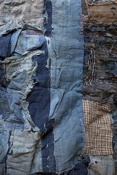 nothanks-justbrowsing:  Japanese Indigo: Boro -- Not denim, but chambrey fabrics would be a good substitute too.