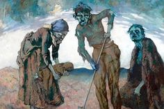 """""""Burying The Child"""" by Lilian Lucy Davidson (1893-1954). Ireland's Great Hunger Museum. Connecticut."""