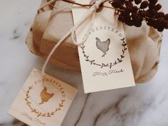 Egg Carton Labels Chicken Rubber Stamp by SubstationPaperie