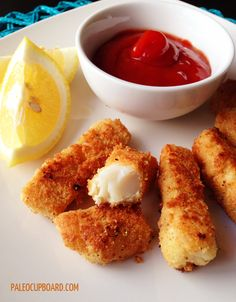 Paleo Fish Stick Recipe, adult AND kid friendly! - www.PaleoCupboard.com(Gluten-Free)
