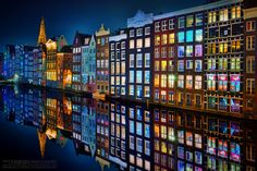 Amsterdam At Night via @dmiguelm