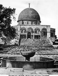 / Dome of the Rock, Jerusalem, Palestine. Islamic Pictures, Historical Pictures, Old Pictures, Old Photos, Palestine Art, Palestine History, Terra Santa, Dome Of The Rock, World Religions