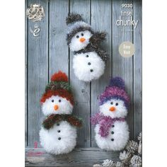 Mary Maxim - Tinsel Chunky Snowman Pattern - Christmas Blowout - Promotions