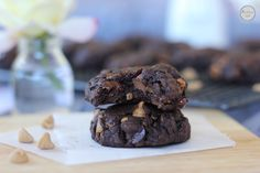 Double Peanut Butter and Chocolate Chip Cookies (GF)