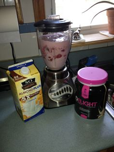 FitMiss Vanilla Chai & Strawberry Protein Shake -  1 scoop of FitMiss vanilla chai delight protein powder - 1 cup of almond milk - 1/2 a cup of water - 2 cups of strawberries - 4 ice cubes