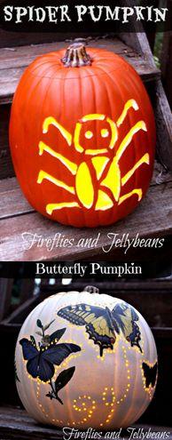 LOVE the butterfly pumpkin! Two Easy DIY Pumpkin Ideas by Norman Norman Holidays Halloween, Halloween Crafts, Holiday Crafts, Holiday Fun, Happy Halloween, Halloween Decorations, Halloween Ideas, Diy Pumpkin, Pumpkin Crafts