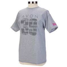 39'ers banding together in solidarity have one goal: to take breast cancer down. This light grey, unisex, short sleeve tee features the seven city names of AVON 39 2015. Magenta AVON 39 The Walk To End Breast Cancer detail on sleeve. Net proceeds go to the Avon Breast Cancer Crusade. Regularly $28.00, buy Avon Breast Cancer products online at http://eseagren.avonrepresentative.com