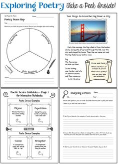 Take a peek inside Exploring Poetry: Teaching Kids to Read and Understand Poetry! This poetry unit from Laura Candler includes over 50 pages of lessons, printables, and activities to make teaching poetry easy and fun!