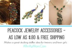 GREAT GIFT IDEA FOR BIRTHDAY'S, ETC... Peacock Jewelry Accessories – As low as 83 cents and free shipping – Bangles, Hair Clip, Necklace, Ear Rings