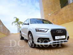 Audi Q3 S Line for hire in Barcelona and other parts of the Western Europe. To hire Audi Q3 S Line call us: +34 952 773943