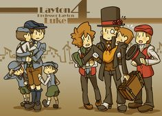 Tags: Reiton-kyouju, Hershel Layton, Luke Triton, Level-5, Clive Dove, Pixiv Id 869783