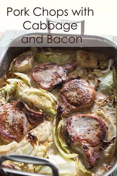 Pork Chops with Bacon and Cabbage - Amazing!!!  You have to make this!  @Sidewalk Shoes