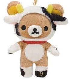 zodiac sign Taurus Rilakkuma bear plush charm
