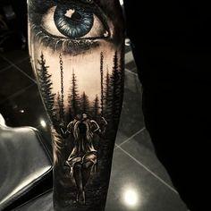 Ideas For Tattoo Ideas Forearm Sleeve Tatoo Retro Tattoos, Trendy Tattoos, Cool Tattoos, New Tattoos, Feminine Tattoos, Tattoo Life, Badass Girl, Wald Tattoo, Realistic Eye Tattoo