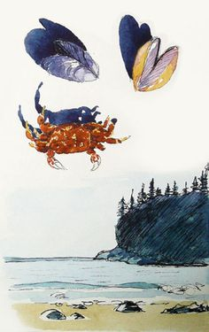 A little fun sketching finds while hanging out on the western coast. - pen and watercolor