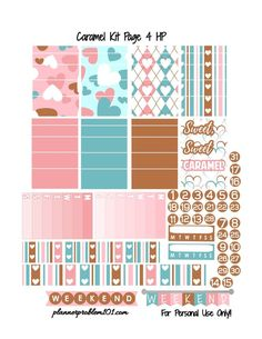 pink and rose gold planner stickers
