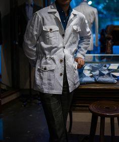 B&TAILOR RTW Linen100 Safari Jacket