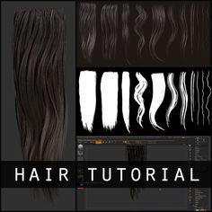 Hair Texture Diffuse & Alpha Tutorial, mike svymbersky on ArtStation at https://www.artstation.com/artwork/PRvdo