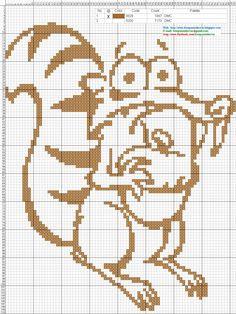 Ice Age hama perler beads pattern - Dibujos Punto de Cruz