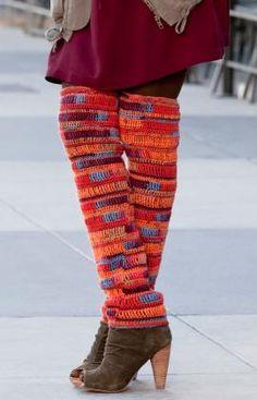 Thigh High Leg Warmers ~ free pattern