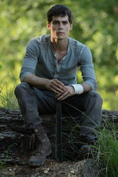 "Dylan O'Brien as Thomas in ""Maze Runner"" (in theaters September 2014)"