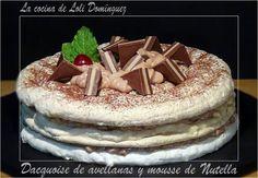 La cocina de Loli Domínguez: Dacquoise de avellanas y mousse de Nutella