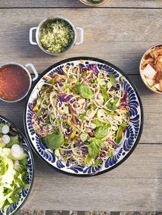 Sesame Noodle Salad from www.whatsgabycooking.com it's loaded with tons of veggies, herbs, the most delicious sauce and the pasta of your choice! (@whatsgabycookin)