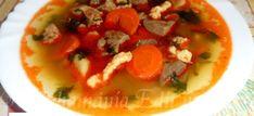 Érdekel a receptje? Kattints a képre! Caprese Salad, Thai Red Curry, Soup, Ethnic Recipes, Drinks, Drinking, Beverages, Drink, Soups