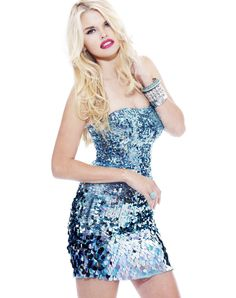 Sparkly short sequin evening cocktail party dress by Sherri Hill