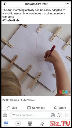 Check out this easy, fun Pre-Writing Activity for kids. Build Fine Motor Skills and coordination. Preschool Centers, Preschool Learning, Kindergarten Activities, Writing Activities, Classroom Activities, Teaching, Toddler Learning Activities, Montessori Activities, Dementia Activities