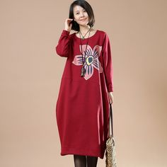 Women cotton long sleeve print dress.material: 100% cotton fabric. Excellent collection.u will find more on our website buykud.com