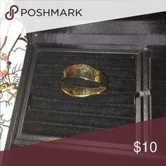 Slip on Gold bracelet Gold hammered bracelet slip on Jewelry Bracelets