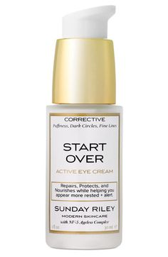 Sunday Riley - Start Over Active Eye Cream - BEST eye cream EVER. Dark circles, puffiness, lines and wrinkles, hydration. The BEST!
