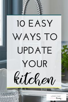 Lots of ideas and advice on easy ways to update a kitchen. Transform your current kitchen or use them for creating a new kitchen design or kitchen layout. Don't forget storage, taps, daylight, lighting and more. Open Plan Kitchen, Updated Kitchen, Kitchen Layout, Kitchen Decor, Home Decor Trends, Home Decor Inspiration, Decor Ideas, Blog Website Design, New Kitchen Designs