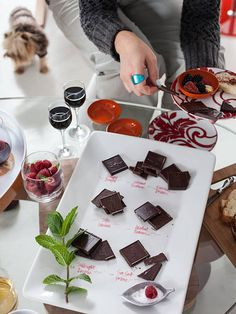 Chocolate tasting party // your party guests will go crazy for this