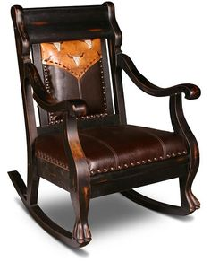 Beautiful Western Rocking Chairs at Timberline! *** Cowboy Chairs!