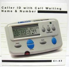 Bellsouth Caller ID with Call Waiting CI 43 by BellSouth. $13.99. Caller ID with Call Waiting * Display Name & Number of Caller * Three Line Display * Caller ID Call Waiting * One tough call Back * Flash Key for easy access to Call waiting * Unknown Name/Number Indicator * Private Name/Number Indicator * New Call Indicator * Repeat Call Indicator * Message Waiting indicator * Call Forward Indicator * Real time Clock * Delete Function * Multi-language Display (English and Spani...