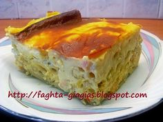 Pasta Recipes, Cake Recipes, Cooking Recipes, Healthy Recipes, Cookie Dough Pie, Baked Pasta Dishes, My Favorite Food, Favorite Recipes, Greek Cooking