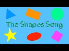 The Shapes Song (children's song for learning basic shapes)