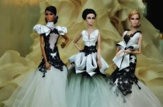https://flic.kr/p/a16Hs2 | The Brides In Black and Cream | Mini Collection I made for exhibition at the Wedding Destinations Pampanga 2011 Bridal Fair at SM  Clark  This weekend- JULY 8-10, 2011    Elise didnt make it... so Poppy chipped in for the role... :P  ... and yes, the back drop is actually a ruffled skirt im working on... belong to a client. LOLs.