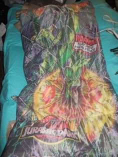 Vintage Jurassic Park Sleeping Bag 1992 by Linsvintageboutique