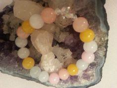 Candy Jade Bracelet with Swarovski Crystals www.etsy.com/people/evolvejewelrydesign1 www.facebook.com/evolvejewelrydesign1