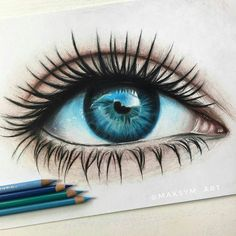 Amazing eye drawing by Rene Lopez ( Art Drawings Sketches Simple, Pencil Art Drawings, Realistic Drawings, Art Sketches, Pencil Sketching, Eye Drawings, Drawing Eyes, Horse Drawings, Drawing Art