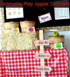 Dramatic Play Apple Theme for #preschool and #kindergarten