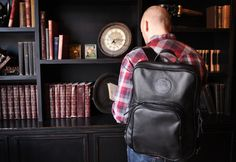 The All-Leather Daypack from Duluth Pack. #backpack #leather #madeinusa #americanmade http://duluthpack.com