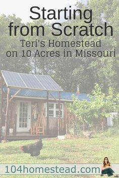 Teri lives on 10 acres in Missouri with her family of four. She is the writer of Homestead Honey and today she is sharing her homesteading journey with us. Teri lives on 10 acres in Mis